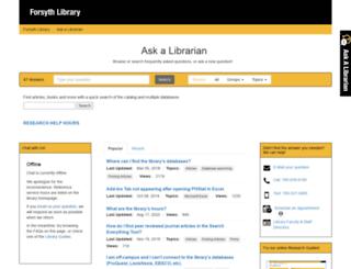 libanswers.fhsu.edu screenshot