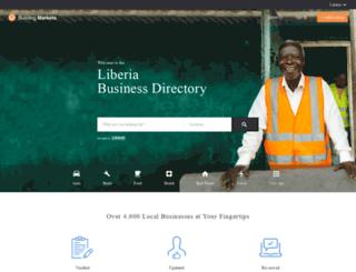 liberia.buildingmarkets.org screenshot