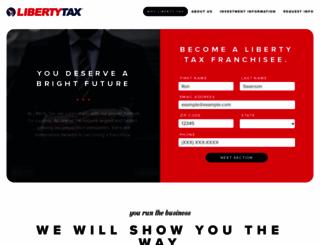 libertytaxfranchise.com screenshot