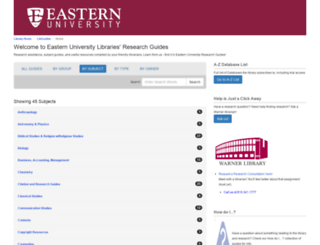 libguides.eastern.edu screenshot