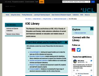 libguides.ioe.ac.uk screenshot