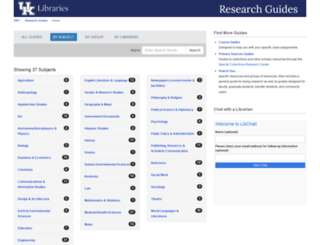 libguides.uky.edu screenshot