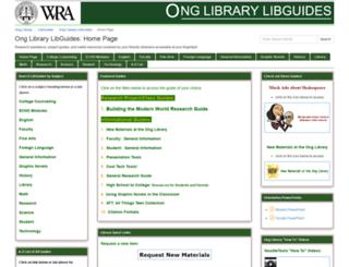 libguides.wra.net screenshot