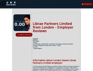 librae-partners-limited.job-reviews.co.uk screenshot