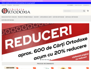 librariaortodoxia.ro screenshot