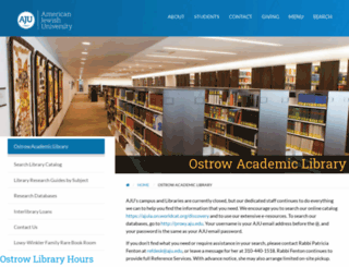 library.aju.edu screenshot