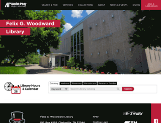 library.apsu.edu screenshot