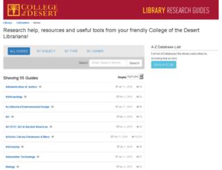 library.collegeofthedesert.edu screenshot