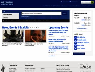 library.duke.edu screenshot