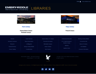 library.erau.edu screenshot