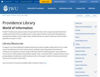 library.jwu.edu screenshot