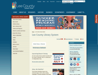 library.lee-county.com screenshot
