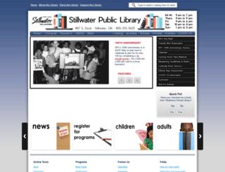 library.stillwater.org screenshot