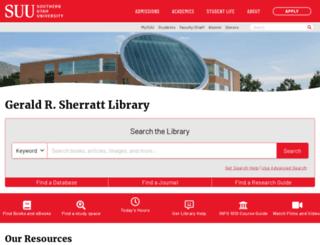 library.suu.edu screenshot