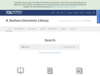 library.tcnj.edu screenshot