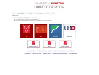 library.uh.edu screenshot