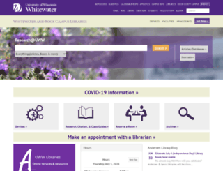 library.uww.edu screenshot