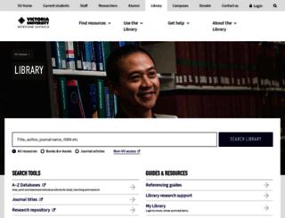 library.vu.edu.au screenshot