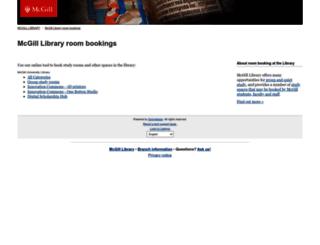 libraryrooms.mcgill.ca screenshot
