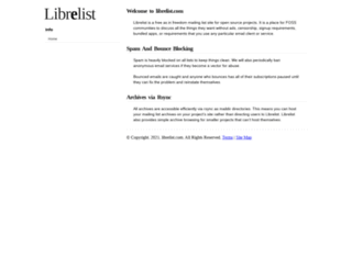librelist.com screenshot