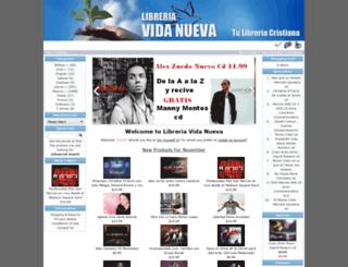 libreriavidanueva.com screenshot