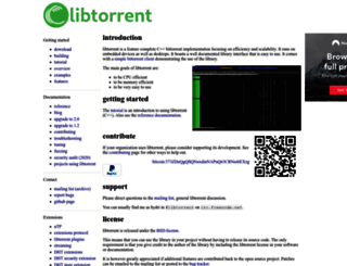 libtorrent.org screenshot