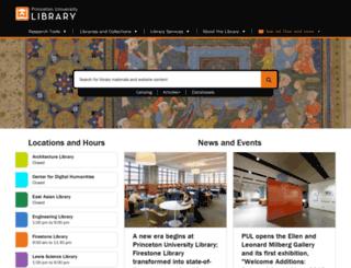 libweb.princeton.edu screenshot