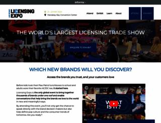licensingexpo.com screenshot