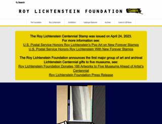 lichtensteinfoundation.org screenshot