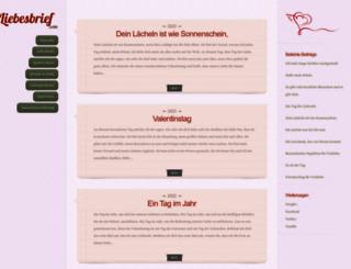 liebesbrief.com screenshot