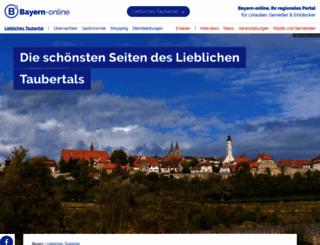 liebliches-taubertal.bayern-online.de screenshot