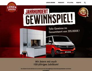 lieken-urkorn.de screenshot