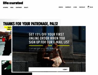 life-curated.com screenshot