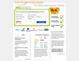 life-in-surance.com screenshot