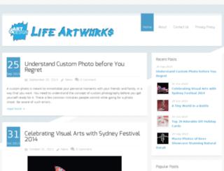lifeartworks.com screenshot