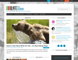 lifeasahuman.com screenshot