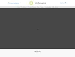 lifebotanica.com screenshot