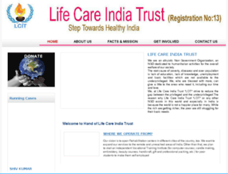 lifecareindiatrust.org screenshot