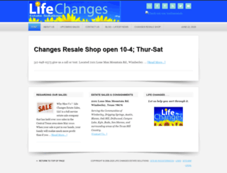 lifechangesestatesales.com screenshot