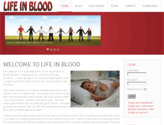 lifeinblood.co.za screenshot