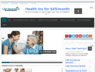 lifeinsurancesnohealthquestions.net screenshot