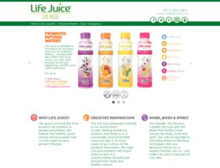 lifejuiceshop.com screenshot
