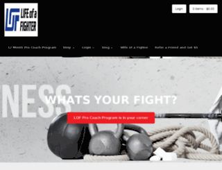 lifeofafighter.com screenshot