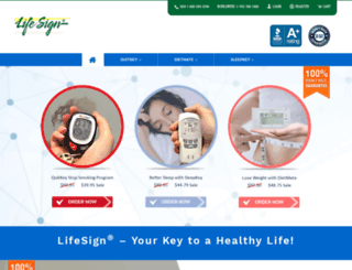 lifesign.com screenshot