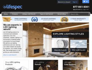 lifespeclighting.com screenshot