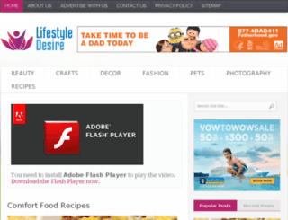 lifestyledesire.com screenshot