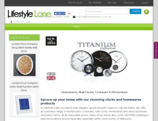 lifestylelane.com.au screenshot