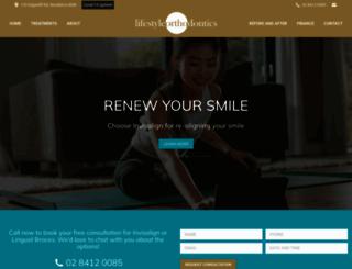 lifestyleorthodontics.com.au screenshot