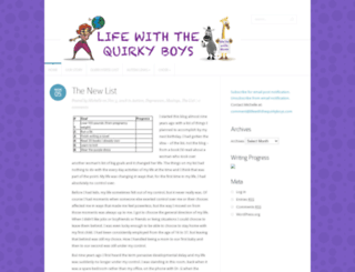 lifewiththequirkyboys.com screenshot