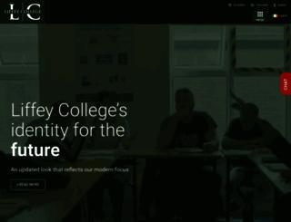 liffeycollege.ie screenshot